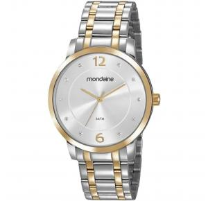 Relógio Mondaine Feminino Prata com Dourado 83467LPMVBE4