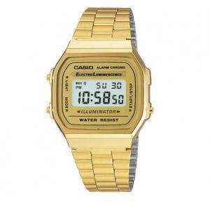 Relógio Casio Unissex Vintage Digital Dourado A168WG9WDF