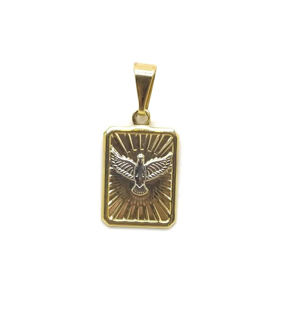 Medalha Espirito Santo folheada 18k