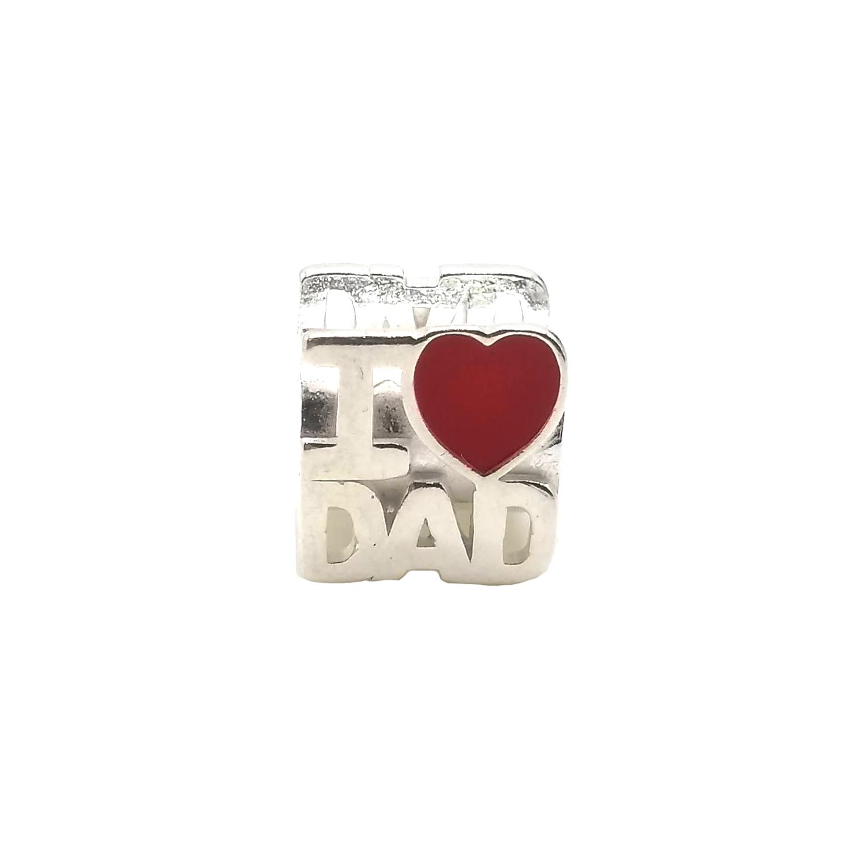 Berloque I LOVE DAD em Prata