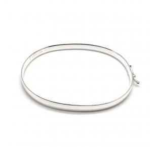 Bracelete Arrendondado em Prata