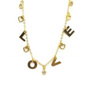 Choker Love Folheado a Ouro 18K