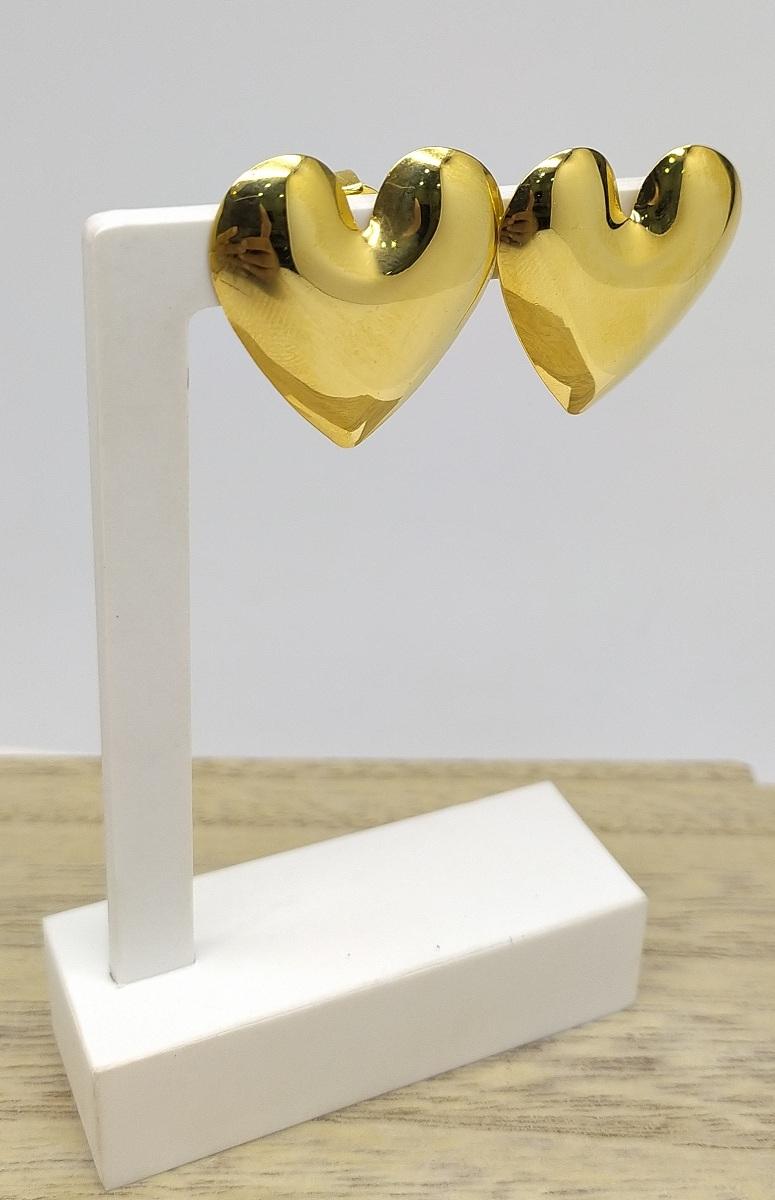 Brinco de Coração Folheado a Ouro 18K