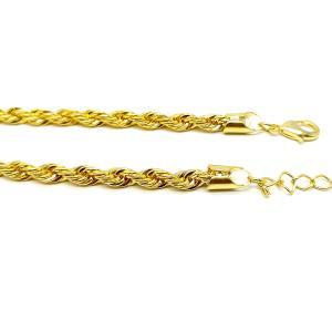 Pulseira cordão baiano grossa folheado a ouro 18k