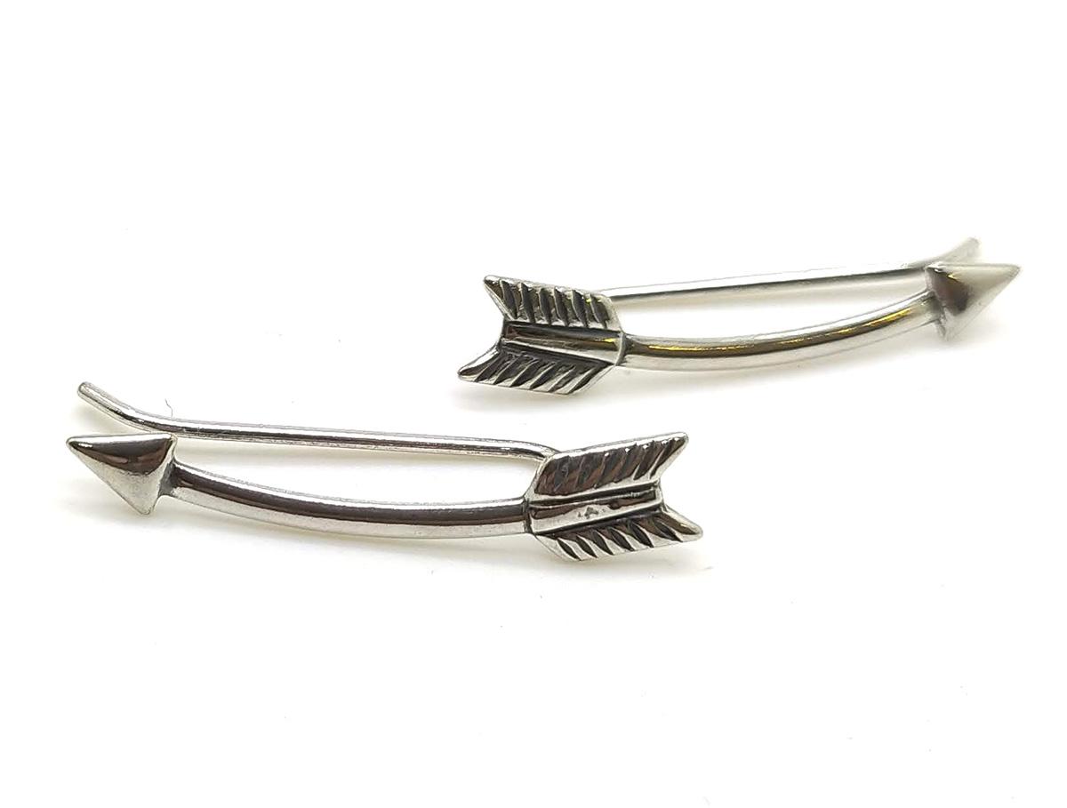 Brinco ear cuff flecha em prata 925