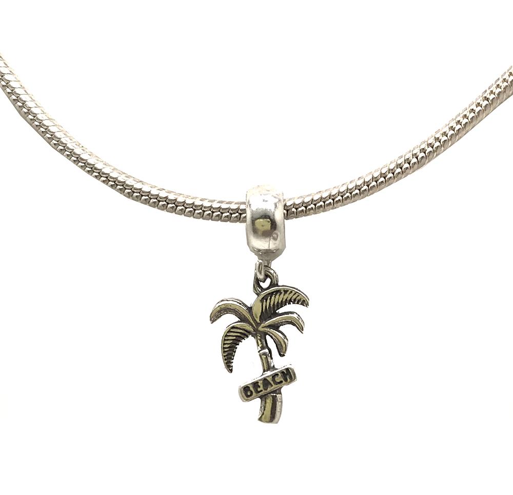 Berloque coqueiro em prata 925