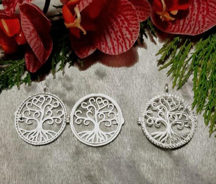 Pingente Relicário Árvore da Vida em prata 925