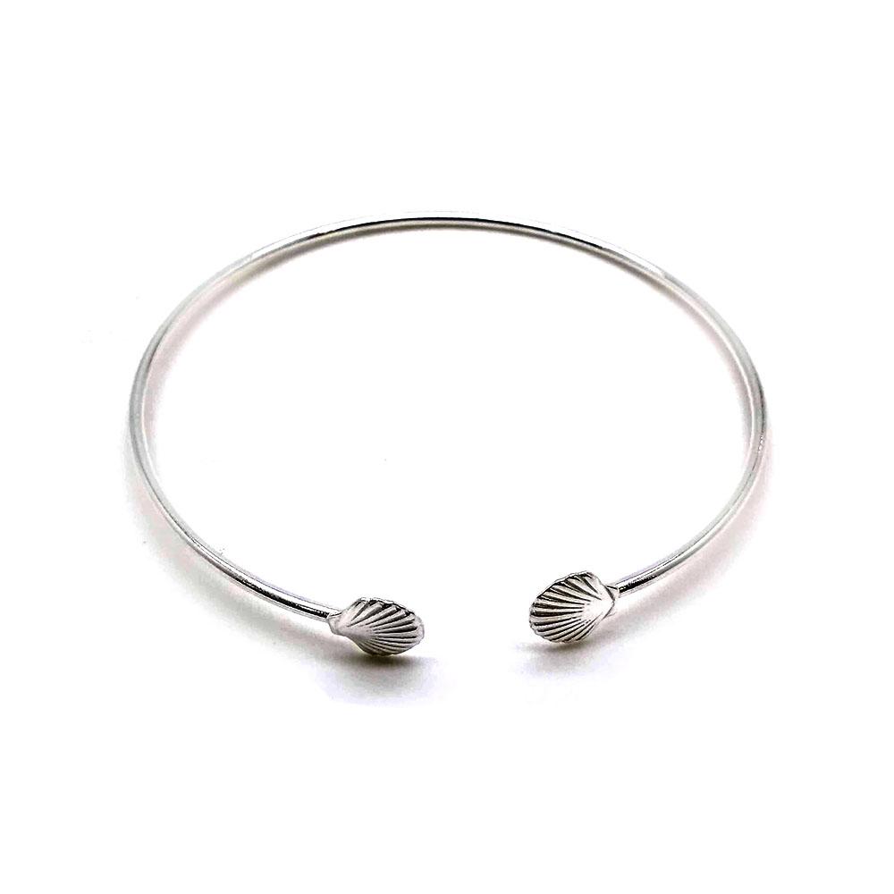 Bracelete  em Prata com Conchas