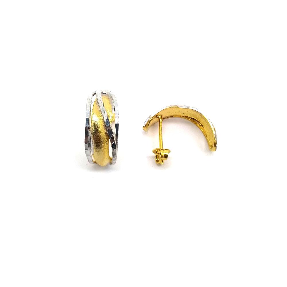 Brinco Réplica com Tons Diamantados Folheado a Ouro 18K