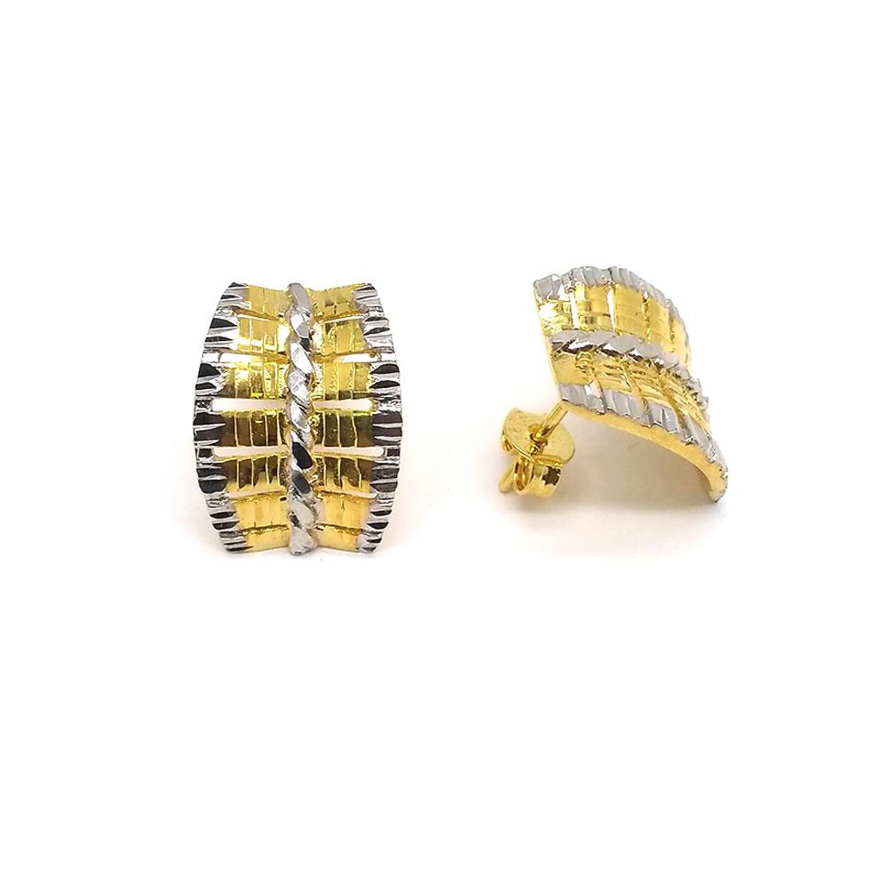 Brinco Réplica com Efeito Diamantado Folheado a Ouro 18K