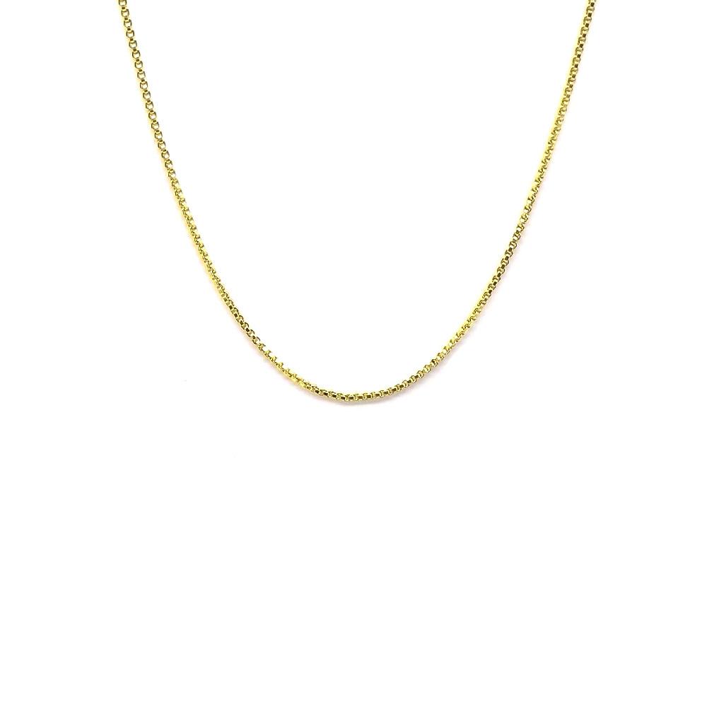 Corrente Veneziana Feminina 45 cm Folheado a Ouro 18K