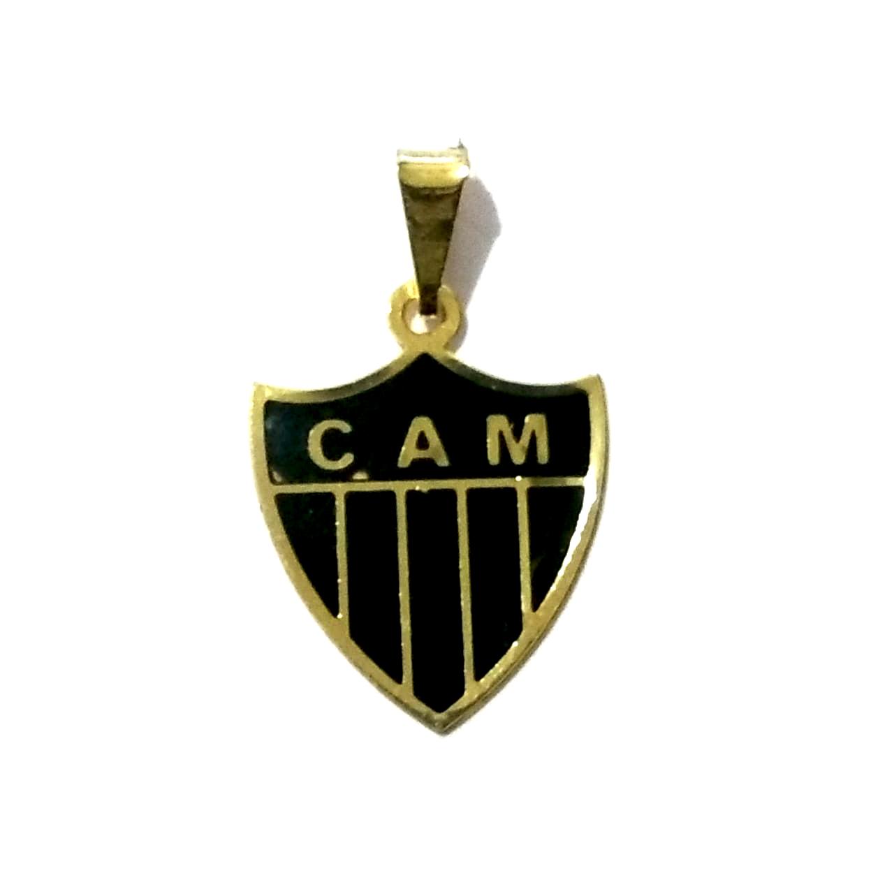 Pingente Atlético Mineiro Folheado a Ouro 18K