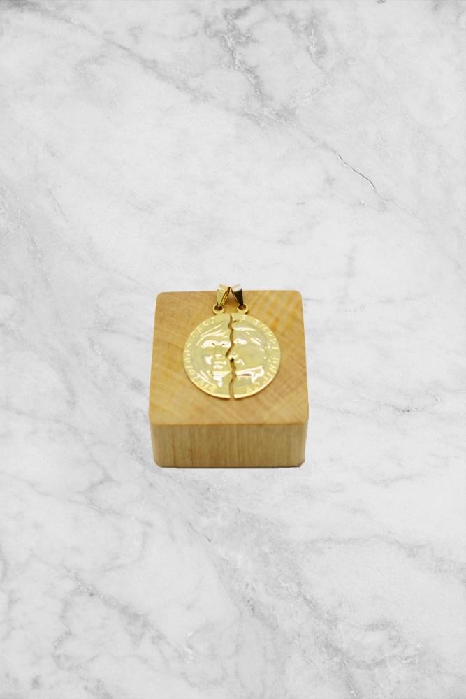 Pingente Medalha Dupla PINF 1.0