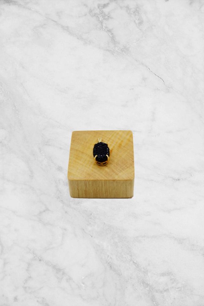 Pingente Pedra Preta Cravejada PINF 0.70