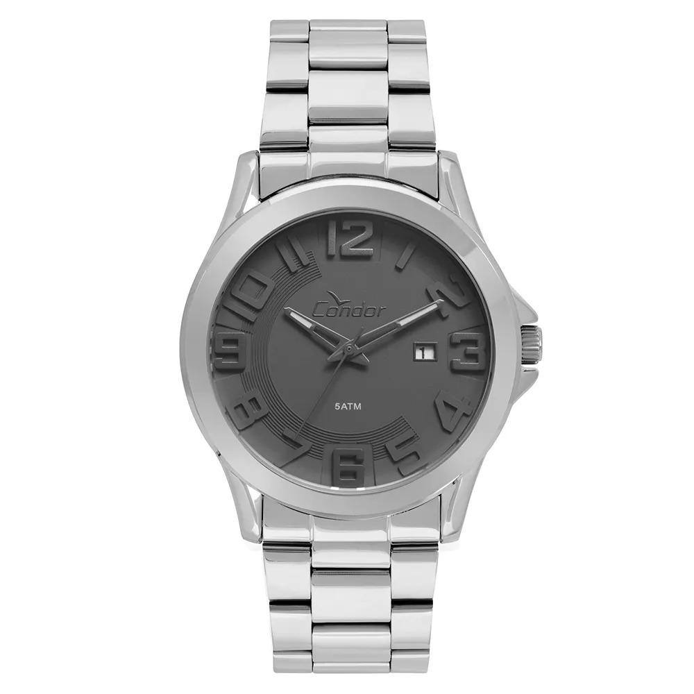 Relógio Condor Masculino Casual Metal Prata - CO2115KSR/3C