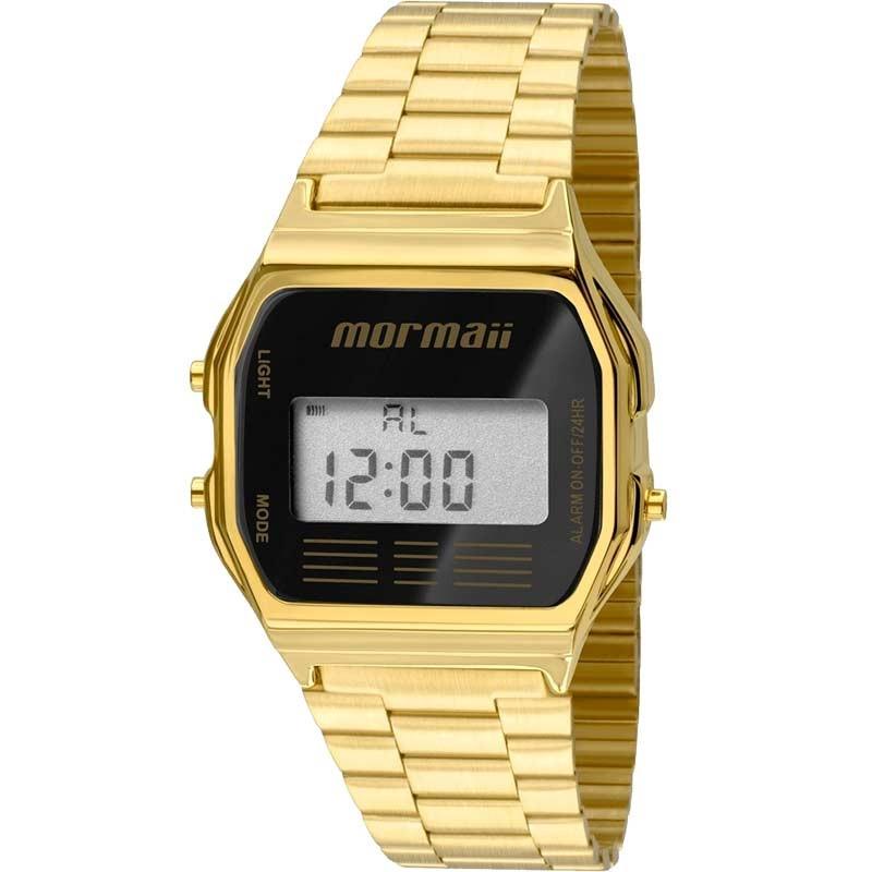 Relógio Digital Mormaii Vintage Dourado Unissex MOJH02AB/4P