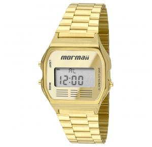 Relógio Digital Mormaii Vintage Dourado Unissex MOJH02AB/4D