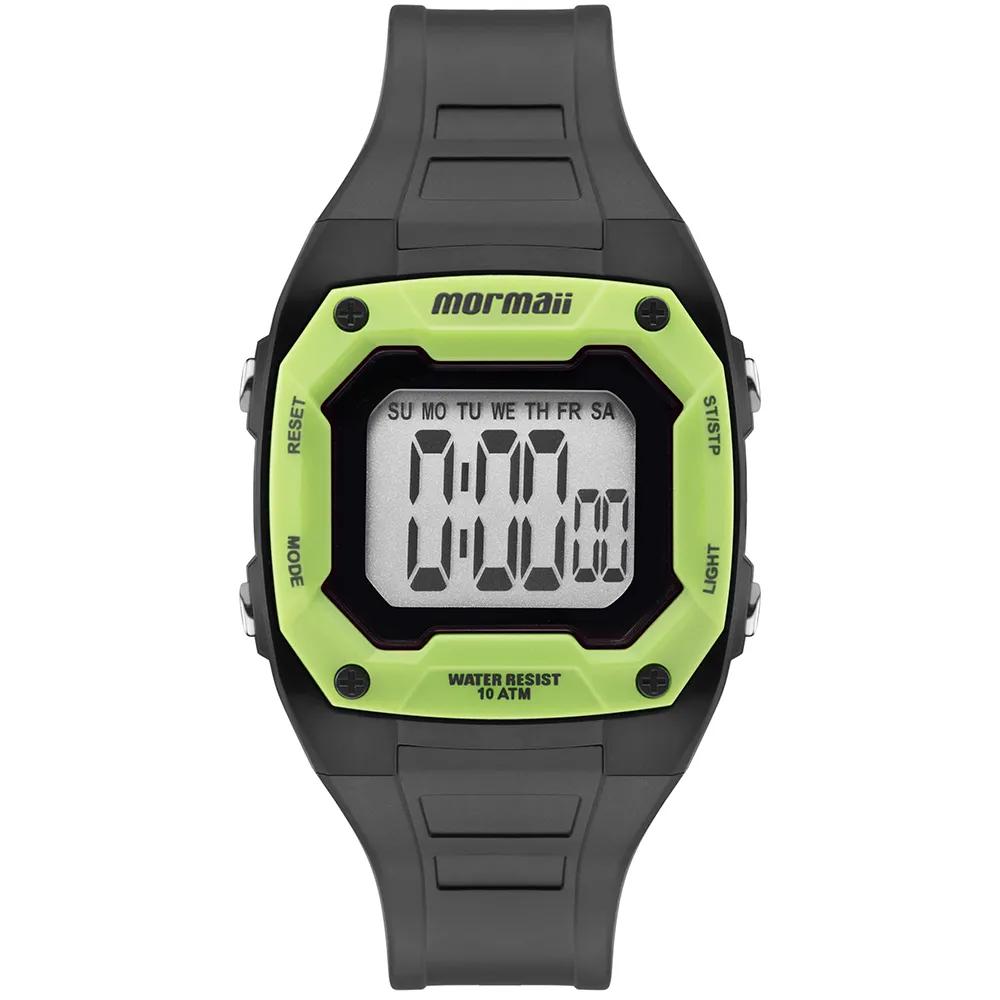 Relógio Mormaii Infantil Nxt Cinza e Verde  MO9451AC/8V