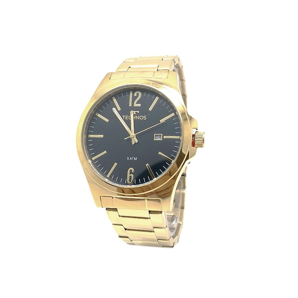 Relógio Technos Dourado Masculino Classic Steel 2115LAN/4P