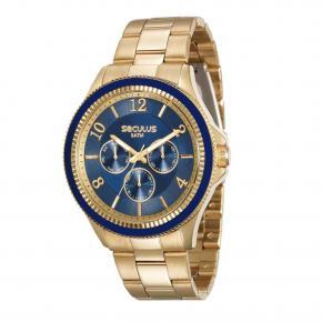 Relógio Seculus Feminino Multifunção 28900LPSVDS1