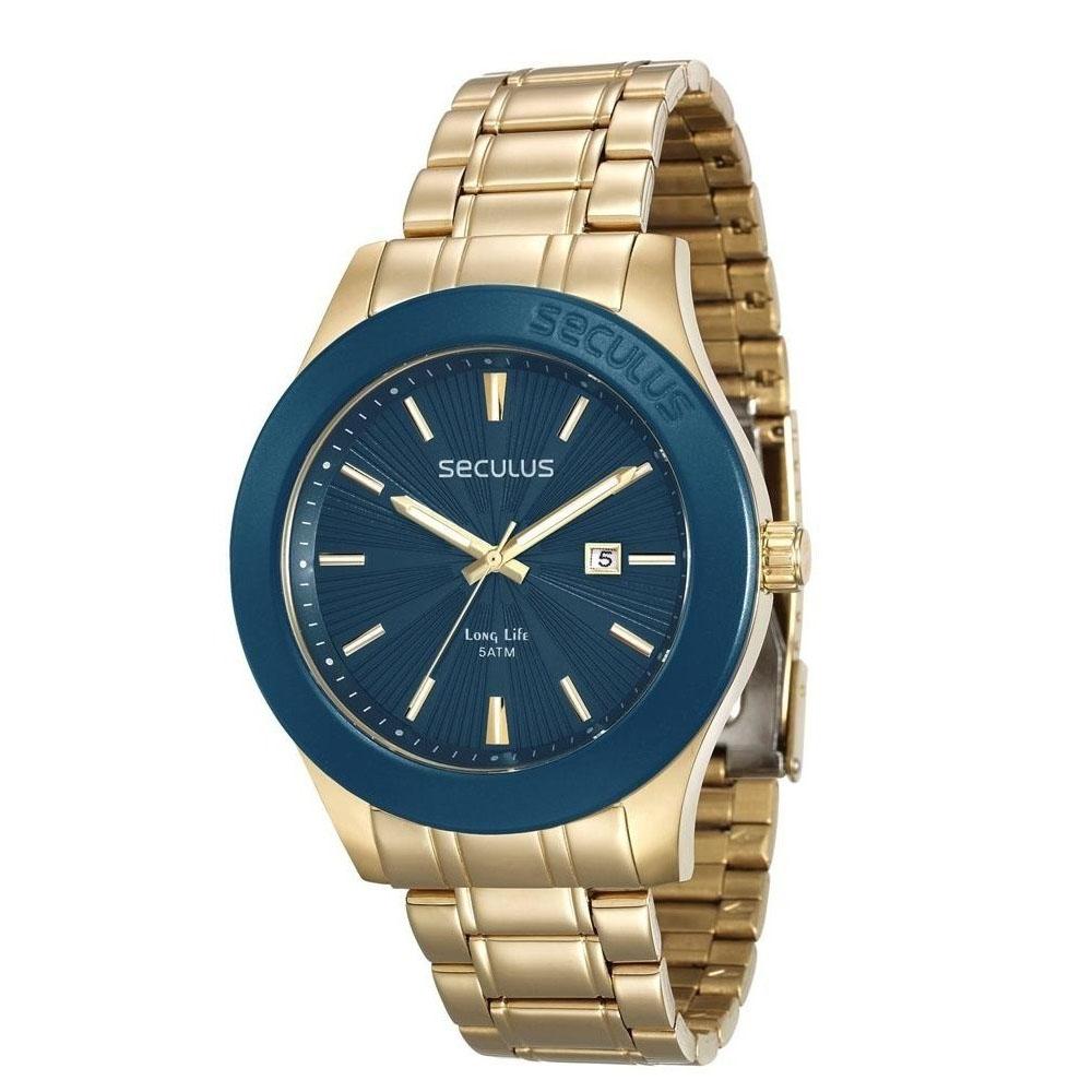 Relógio Masculino Seculus Long Life 28743GPSVDA1