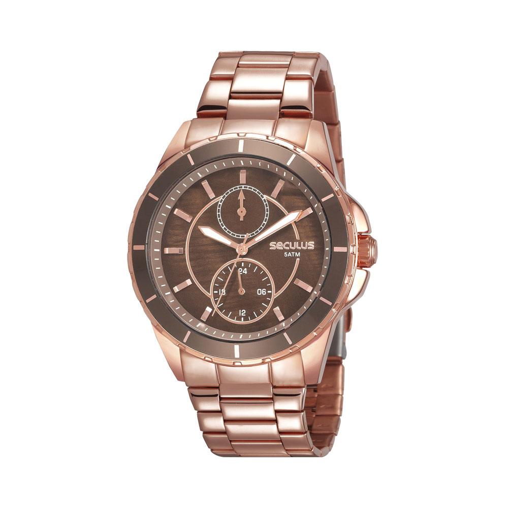 Relógio Feminino Seculus Multifunção 28972LPSVRS1