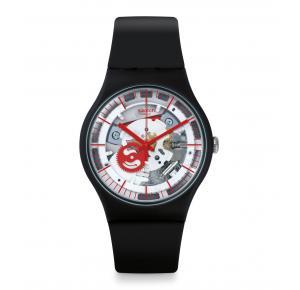 Relógio Swatch Siliblack Esqueleto SUOB153